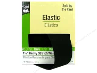 Heavy Stretch Waistband Elastic  by Dritz 1 1/2 in. x  15yd. Black (15 yards)