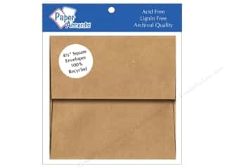 Clearance Paper Accents Envelopes: 4 1/2 x 4 1/2 in. Envelopes by Paper Accents 8 pc. Brown Bag