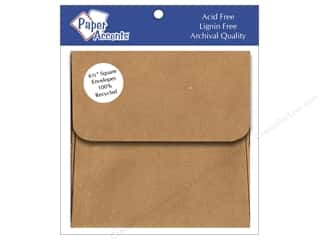 envelopes: 6 1/2 x 6 1/2 in. Envelopes Paper Accents 8 pc. Brown Bag