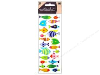 EK Sticko Stickers Puffy Fish