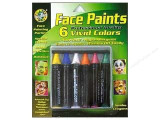 Crafty Dab Face Paint Jumbo Crayons 6 pc. Vivid Colors