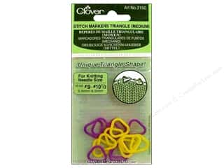 yarn & needlework: Clover Triangle Stitch Markers - Medium 16 pc.