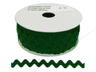 Cheep Trims: Ric Rac by Cheep Trims  1/2 in. Emerald (24 yards)