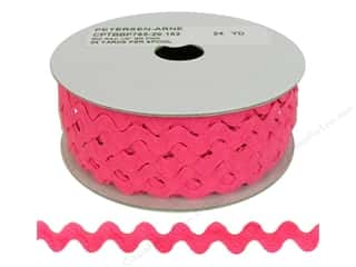 Ric Rac by Cheep Trims  1/2 in. Bright Pink