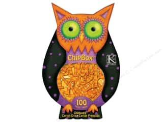 k & company chipboard: K&Company Chipboard Tim Coffey Halloween Chipbox Alpha Owl