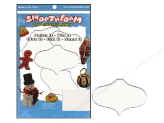 craft & hobbies: Smoothfoam Ornament Flat Package 2.25 in.  White 4 pc