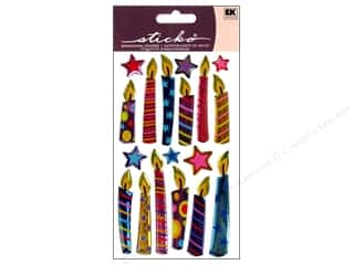 Party Candles / Birthday Candles: EK Sticko Stickers Sparkler Birthday Candles