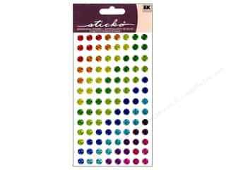 EK Sticko Stickers Sparkler Dots Brights