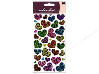 scrapbooking & paper crafts: EK Sticko Stickers Sparkler Animal Print Hearts