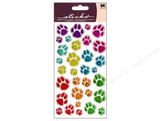 stickers: EK Sticko Stickers Sparkler Animal Tracks
