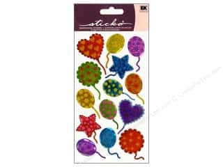 Stickers: EK Sticko Stickers Sparkler Festive Pattern Balloon