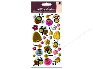Bees: EK Sticko Stickers Sparkler Busy Bees