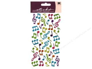 EK Sticko Stickers Sparkler Music Notes