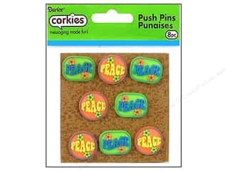 Clearance: Darice Corkies Push Pin Peace 8 pc.