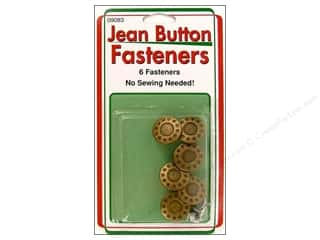 Jean Buttons: Sullivans Jean Button Fasteners Gold Star Ring 6pc