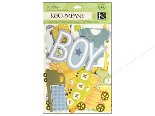 scrapbooking & paper crafts: K&Company Die Cut Cardstock Itsy Bitsy Baby Boy