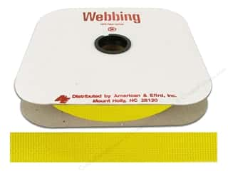 Polypropylene Webbing by A&E 1 in. Yellow (25 yards)