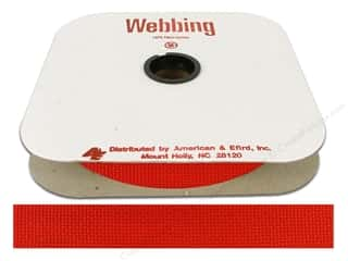 Polypropylene Webbing by A&E 1 in. Hot Red (25 yards)