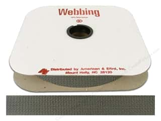 Polypropylene Webbing by A&E 1 in. Smoke Grey