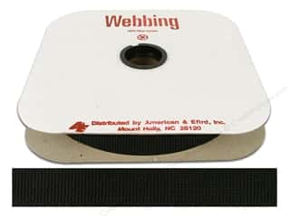 Polypropylene Webbing by A&E 1 in. Black
