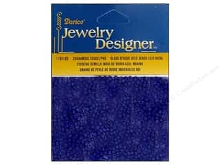 beading & jewelry making supplies: Darice 10/0 Glass Seed Beads 20 gm. Opaque Royal