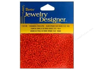Darice 10/0 Glass Seed Beads 20 gm. Opaque Red