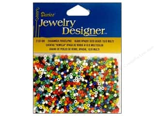 seed beads: Darice 10/0 Glass Seed Beads 20 gm. Opaque Multi