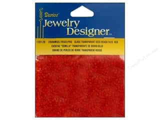 beading & jewelry making supplies: Darice 10/0 Glass Seed Beads 20 gm. Transparent Red