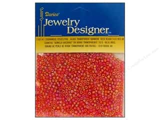 craft & hobbies: Darice 10/0 Glass Seed Beads 20 gm. Transparent Red AB