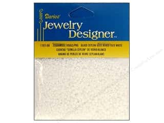 beading & jewelry making supplies: Darice 10/0 Glass Seed Beads 20 gm. Ceylon White Pearl
