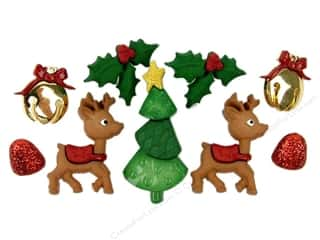 christmas embellishment: Jesse James Dress It Up Embellishments Christmas Collection Reindeer Games