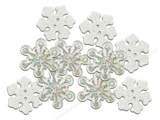 christmas embellishment: Jesse James Embellishments Christmas Bling Sparkle Flakes