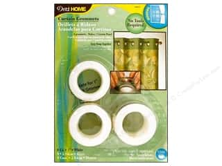 "1 9/16"" curtain grommets: Dritz Home Curtain Grommets 1 in. Round White 8pc"
