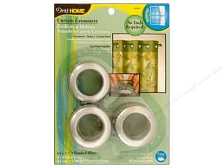 dritz curtain grommets: Dritz Home Curtain Grommets 1 in. Round Brushed Silver 8pc