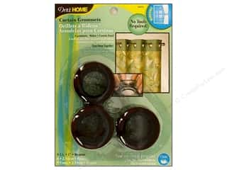 dritz curtain grommets: Dritz Home Curtain Grommets 1 in. Round Bronze 8pc