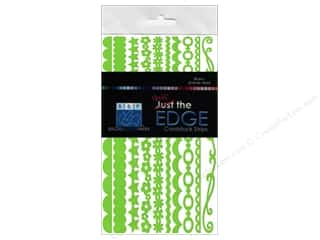 Bazzill: Bazzill Half the Edge Cardstock Strips 6 in. Intense Kiwi 20 pc.