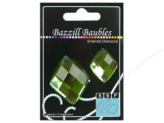 Bazzill: Bazzill Baubles Diamond Emerald 2 pc.