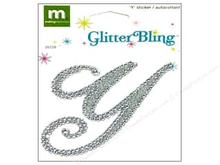 stickers: Making Memories Stickers Glitter Bling Monogram Script Y