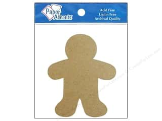 die cuts: Paper Accents Chipboard Shape Gingerbread Man 8 pc. Natural
