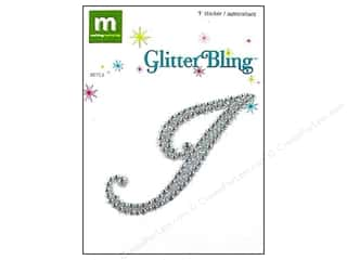 stickers: Making Memories Stickers Glitter Bling Monogram Script I