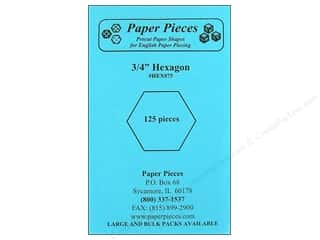 Paper Pieces Precut Paper Shapes Hexagon 3/4 in. 125 pc.