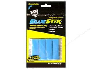 glues, adhesives & tapes: Dap BlueStik Reusable Adhesive Putty 1 oz