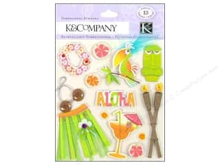 scrapbooking & paper crafts: K&Company Stickers Dimensional Paradise
