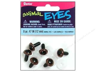 Darice Animal Eyes with Plastic Washers 12 mm Brown 6 pc.