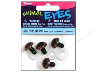 Doll & Animal Eyes: Darice Animal Eyes with Plastic Washers 15 mm Brown 4 pc. (3 packages)
