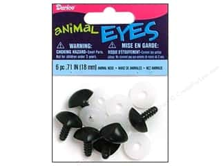 Darice Animal Nose with Washers 18 mm Black 6 pc.