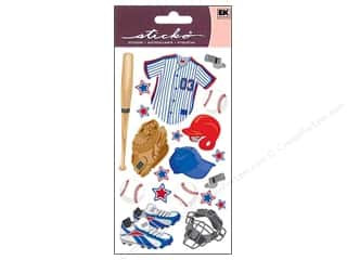 theme stickers: EK Sticko Stickers Baseball Gear
