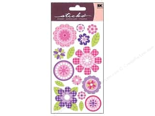 stickers: EK Sticko Stickers Pink Buttercups