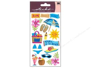 scrapbooking & paper crafts: Sticko Vellum Stickers - Sun Surf Sand