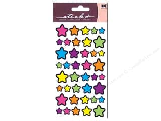 stickers: EK Sticko Stickers Foil Technicolor Stars